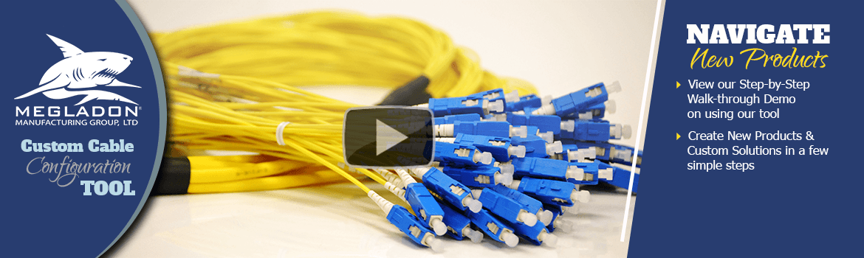 Photo. Fiber Optic Jumpers. Click to navigate Megladon Products.