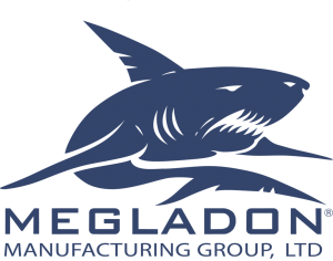 Megladon Manufacturing Group Blue Logo