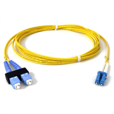 Image of Megladon Manufacturing Brand1.2mm Singlemode SC/LC Fiber Jumper Cable