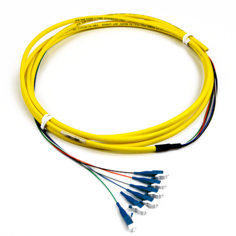 6 Fiber Singlemode LC Pigtail